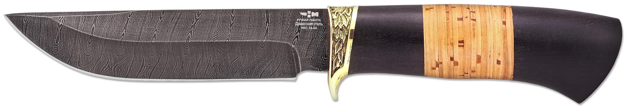 Нож ручной работы Ножемир Россия из дамасской стали ЛЕСНИК (3185)д