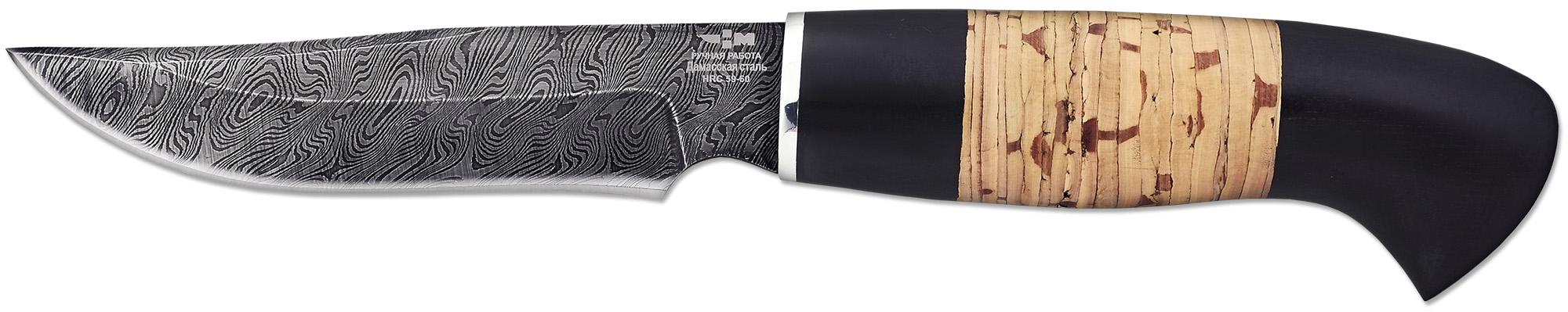 Нож ручной работы Ножемир Россия из дамасской стали ЖИГАН (2283)д